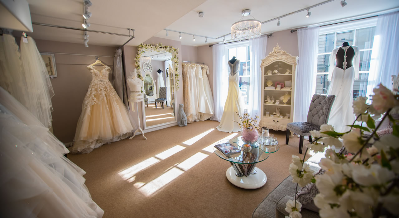 Wedding dresses at Wedding Shop in central Carlisle