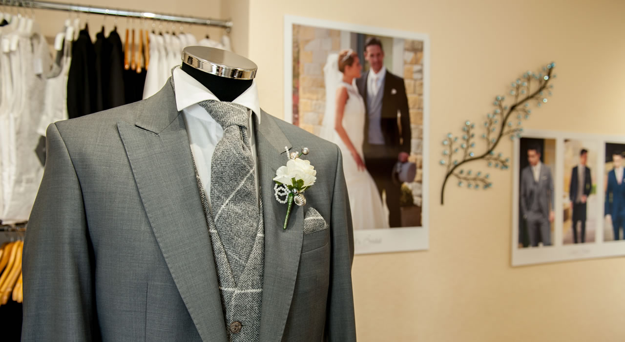 Mens wear at Wedding Shop in central Carlisle